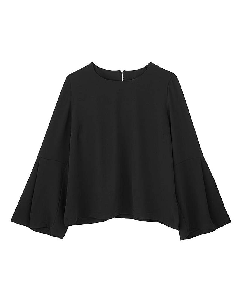 Black Bell Sleeve Top.