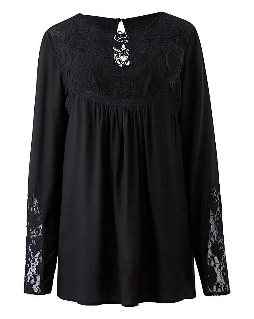 Edwardian Style Blouses Black Victoriana Lace Blouse £30.00 AT vintagedancer.com