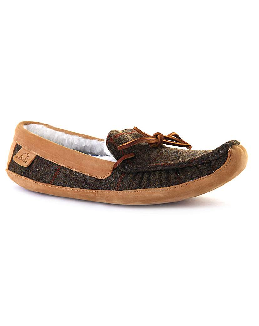 Chatham Thistle Lined Tweed Slipper