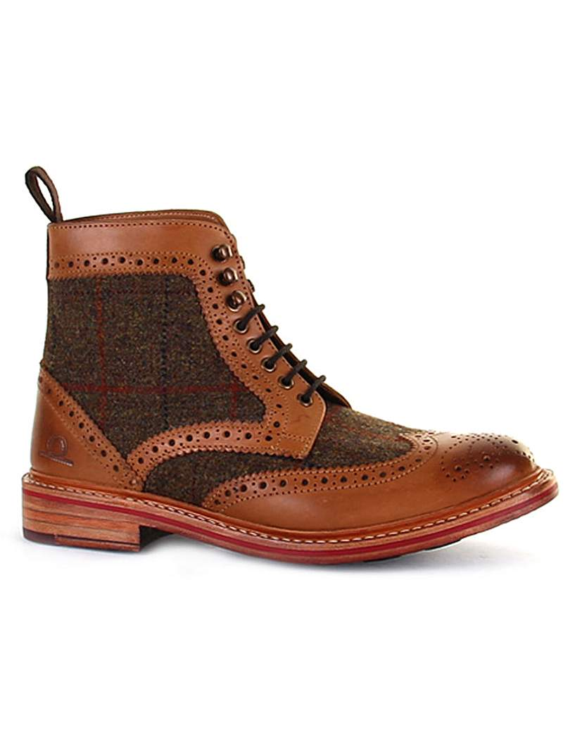 Steampunk Boots and Shoes for Men Chatham Stornoway High Ankle Brogue Boot £149.00 AT vintagedancer.com