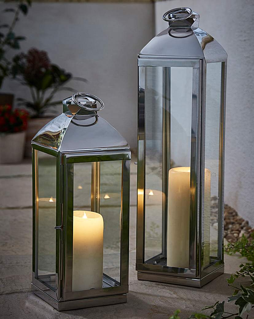Image of Stainless Steel Candle Lanterns