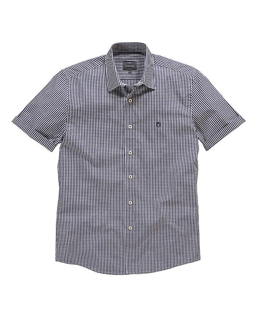 Image of Peter Werth Short Sleeve Gingham Shirt L
