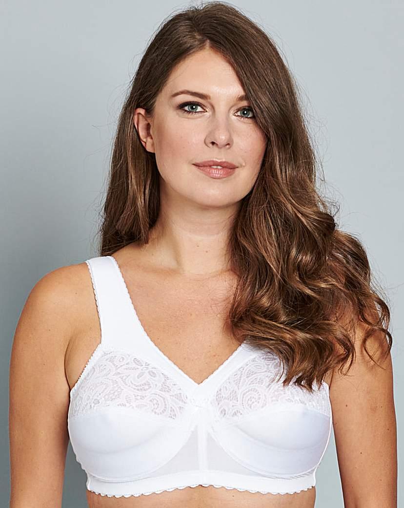 Glamorise Cotton Non Wired White Bra