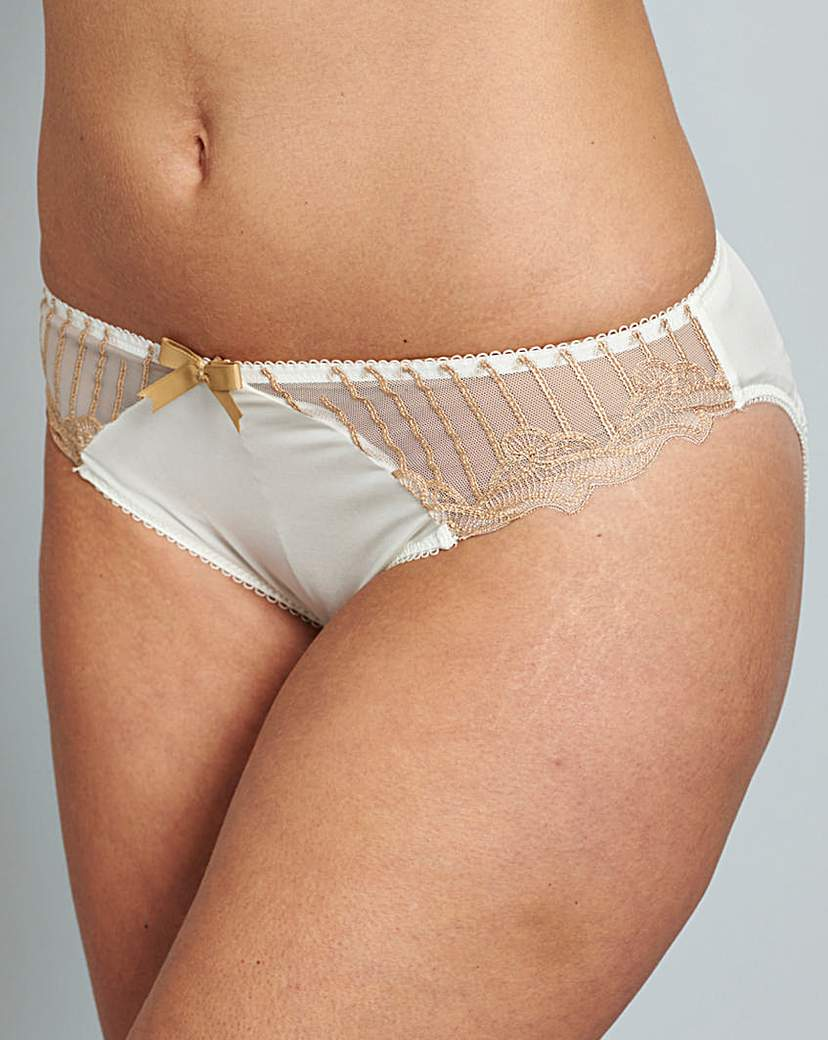 Image of Charnos Sienna Ivory/Gold Briefs