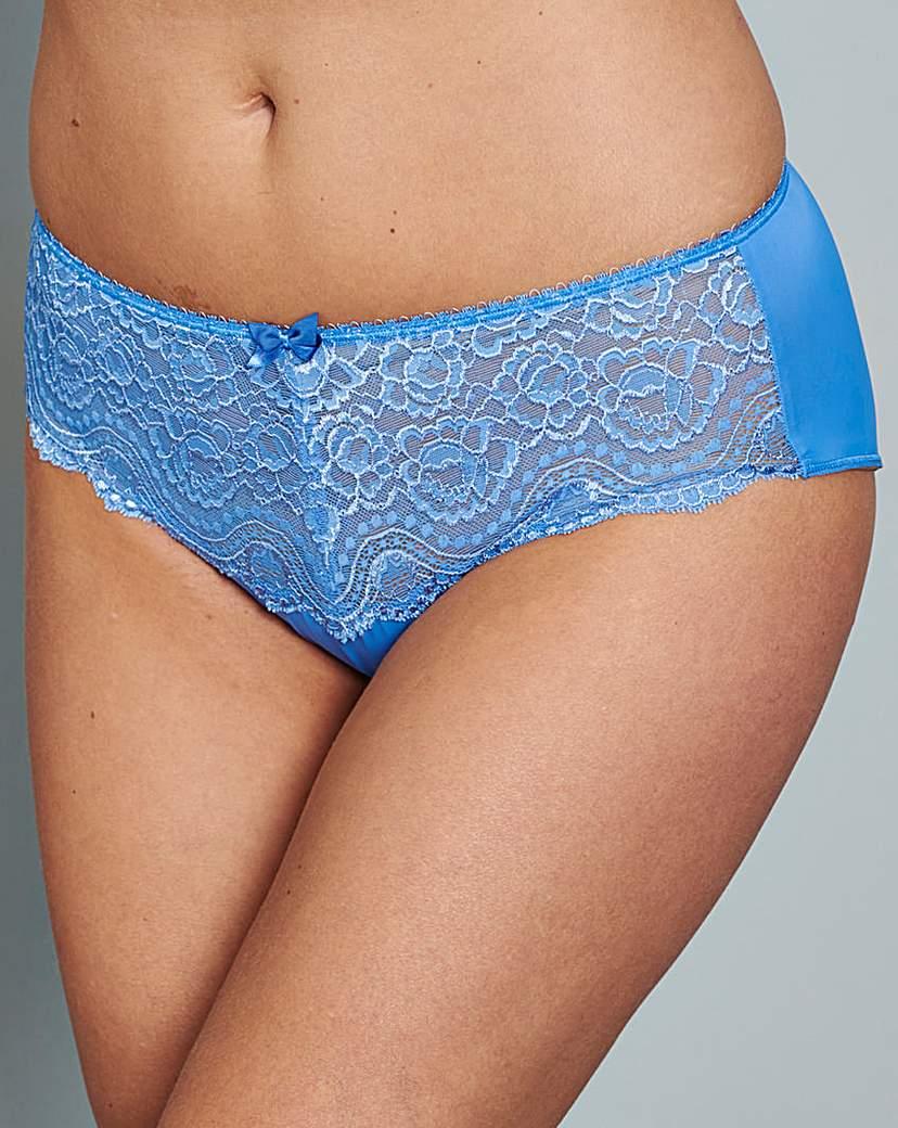 Playtex Flower Lace Blue Briefs.