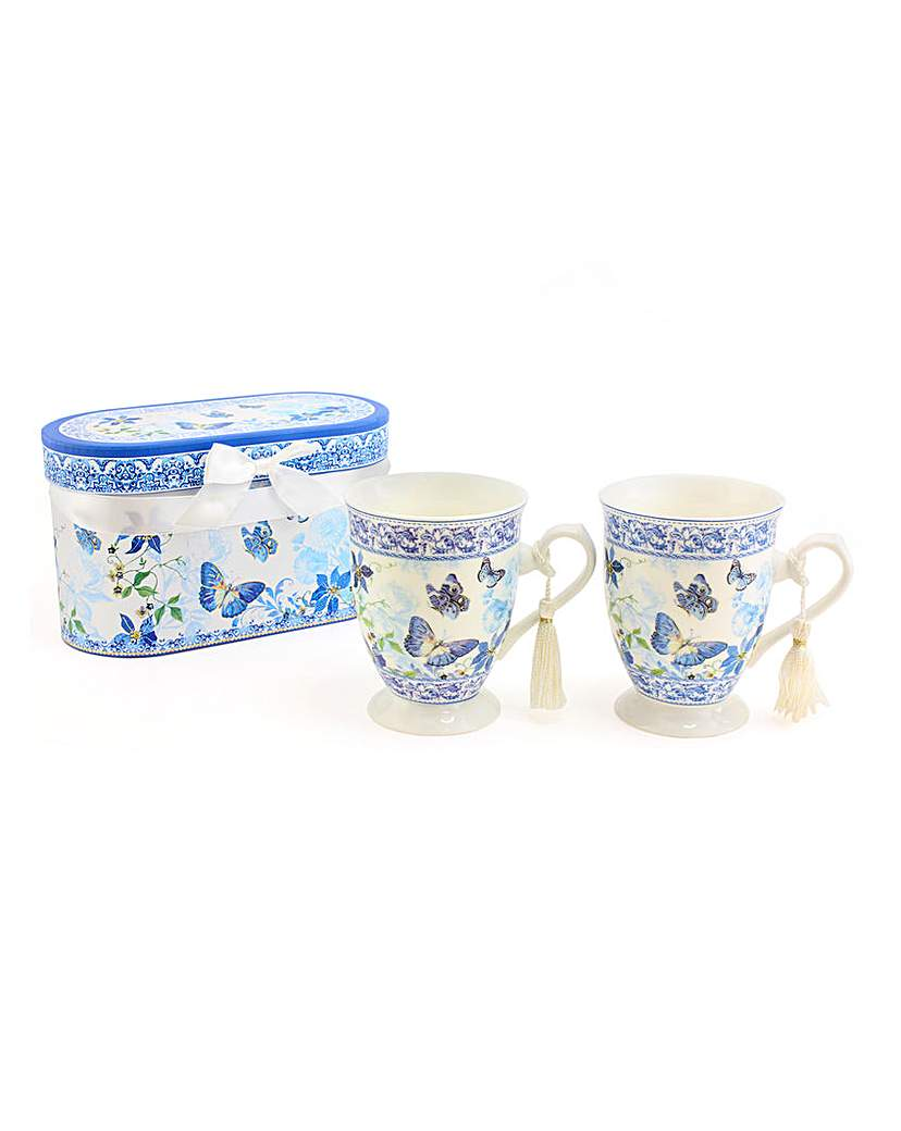 Image of Butterfly Garden Set of 2 Gift Boxed Mug