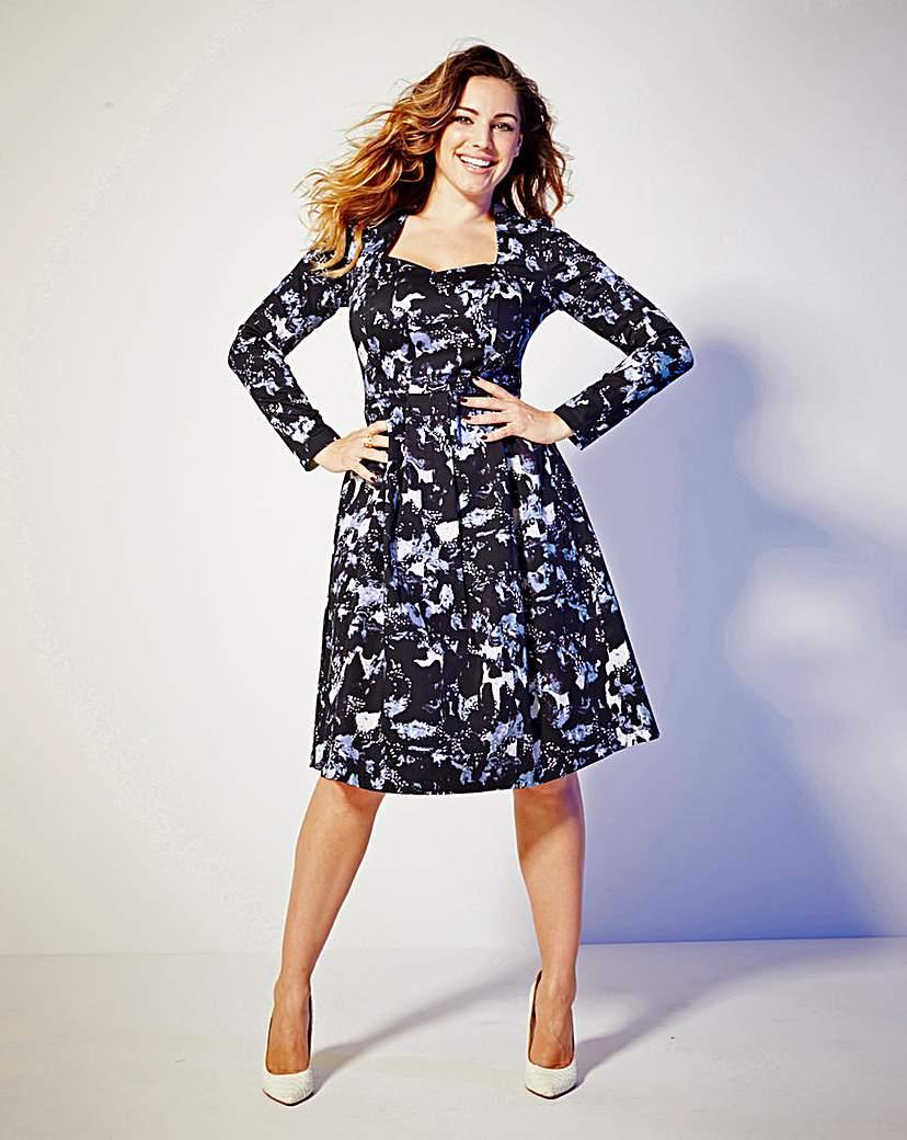 Kelly Brook Print Midi Dress