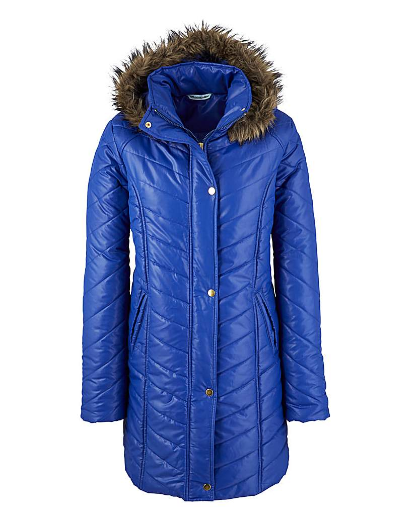 Fur Hooded Padded Jacket