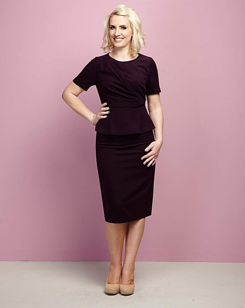 Image of Claire Richards Bodycon Peplum Dress