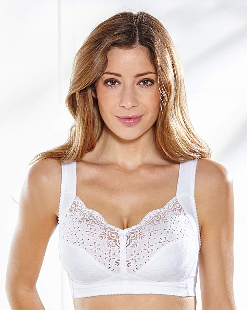 Image of Miss Mary Cotton Non Wired Bra White