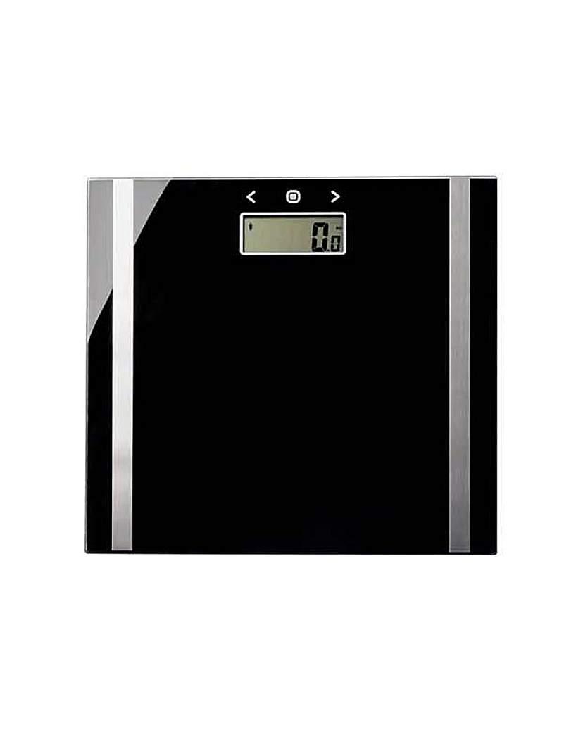 Salter Black Glass Body Analyser Scale