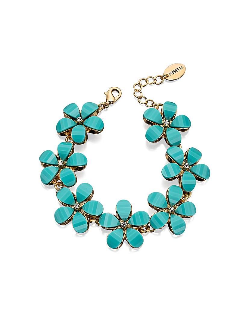 Blue Stone Flower Bracelet