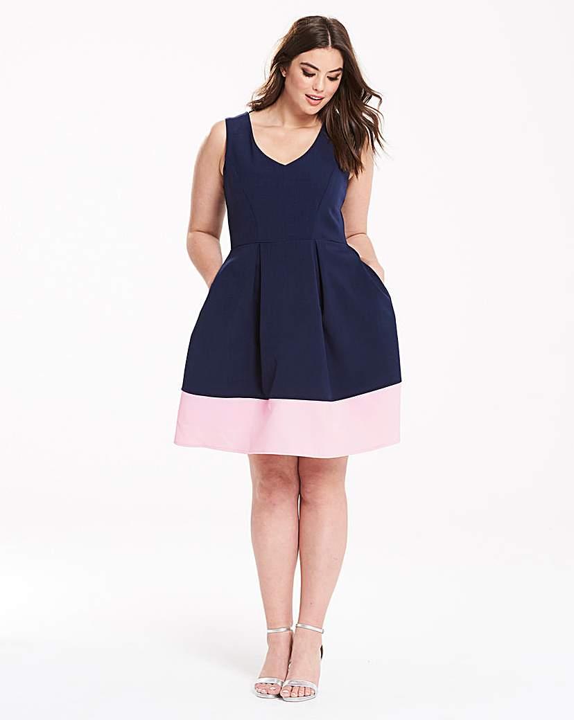 Image of Closet Contrast Hem Dress