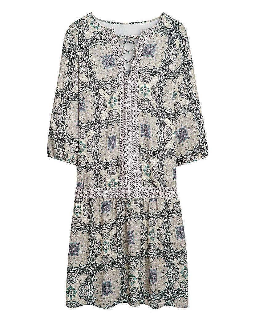 Simply Be Boho Paisley Print Dress £45.00 AT vintagedancer.com
