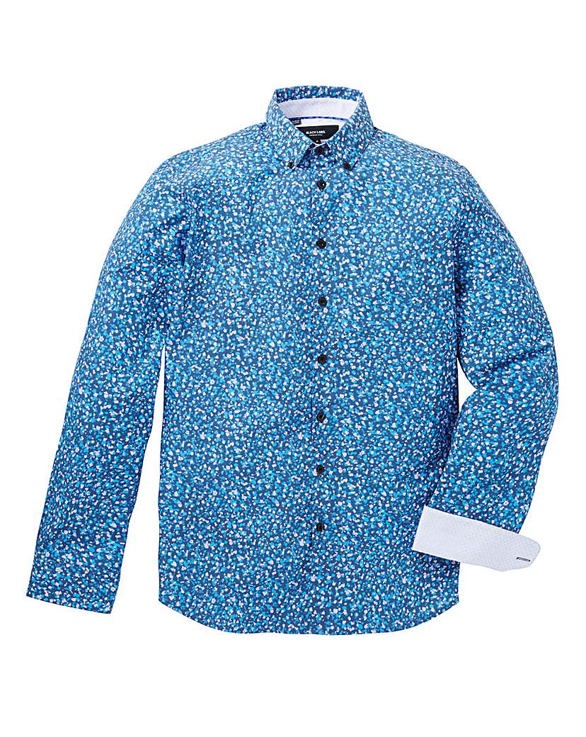 Image of Black Label Spotty Long-Sleeve Shirt