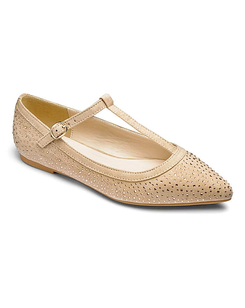 Sole Diva TBar Shoes EEE Fit