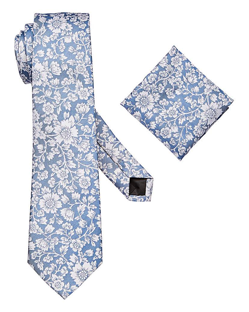 W&B London Floral Tie and Pocket Square