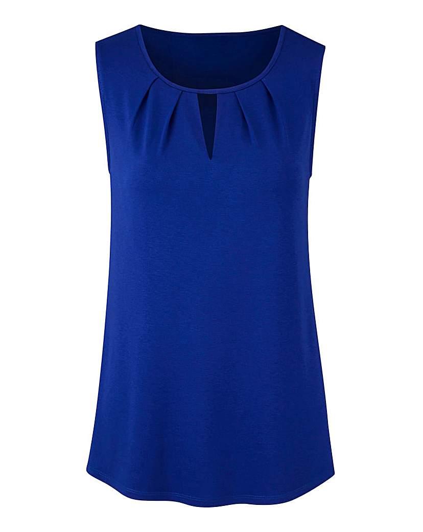 Cobalt Blue Pleat Detail Vest.