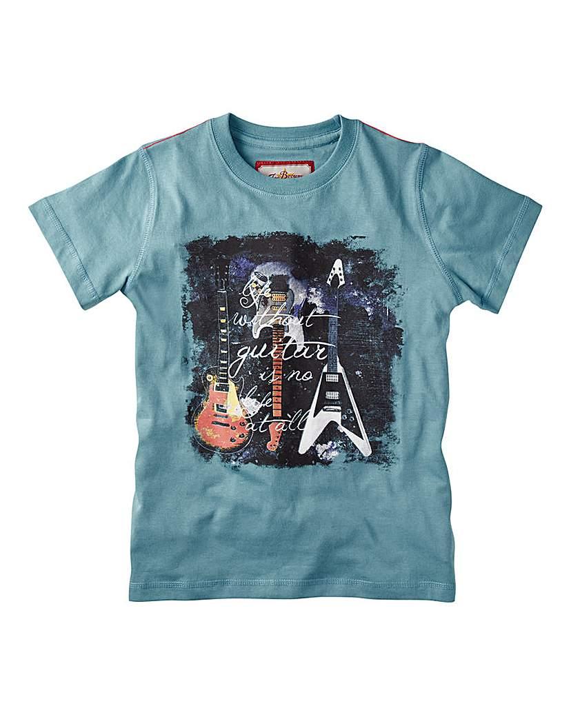 Joe Browns Boys Guitar Print T-Shirt.