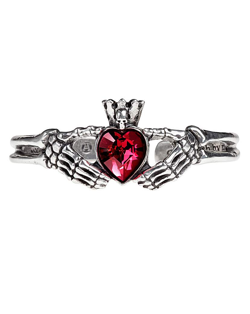 Alchemy Gothic Claddagh By Night Bangle