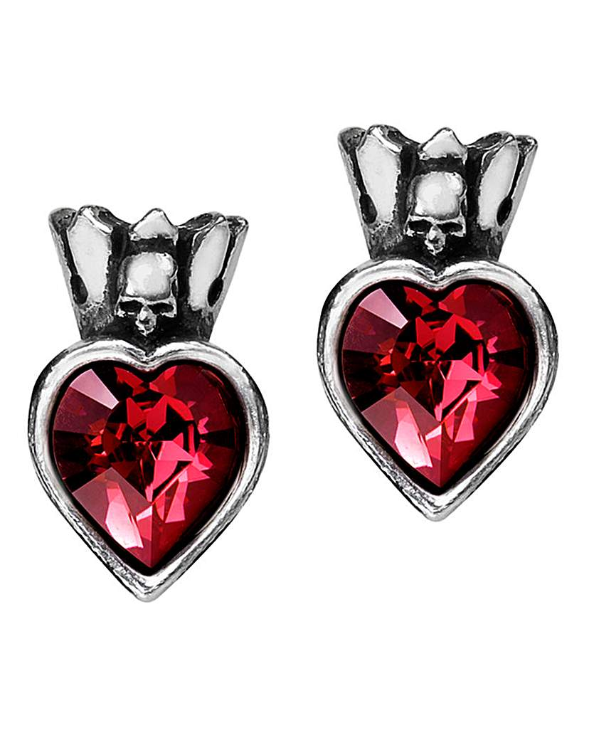 Alchemy Gothic Claddagh By Night Studs