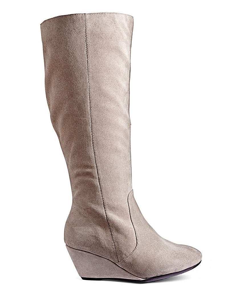 Legroom Wedge Boot Curvy Leg EEE Fit