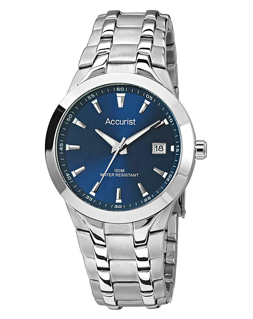 Image of Accurist Gents Blue Dial Bracelet Watch