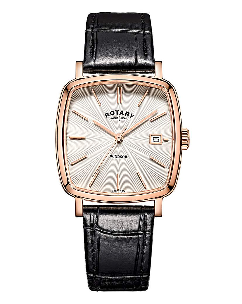 Rotary Gents Square Dial Watch