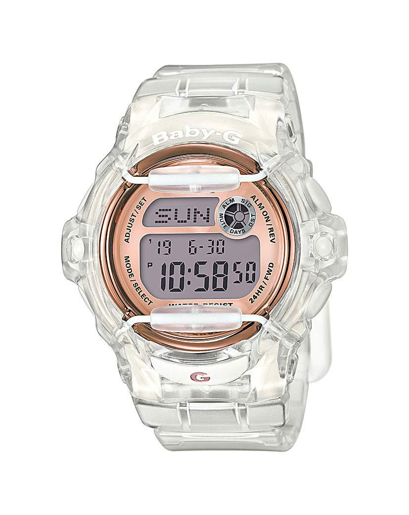 Image of Baby-G Ladies Rose Tone Digital Watch
