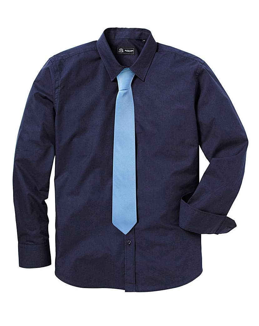 Image of Black Label by Jacamo Shirt With Tie L