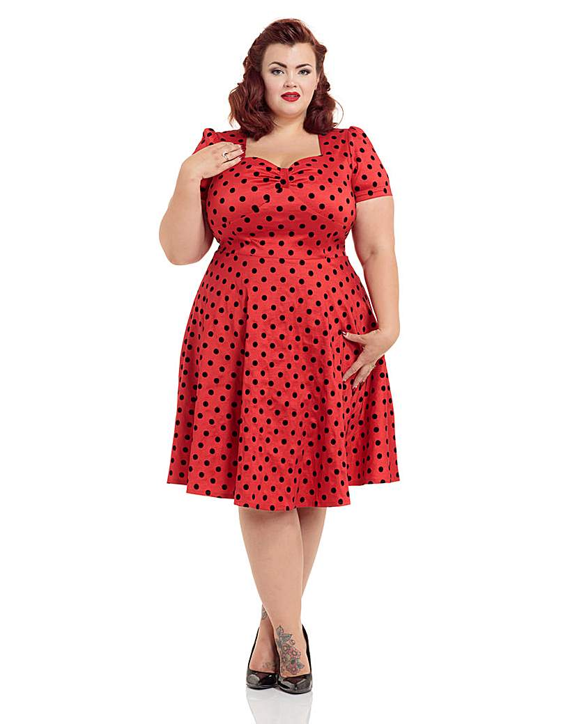 1940s Dresses and Clothing UK Voodoo Vixen Eliza Dress £56.00 AT vintagedancer.com