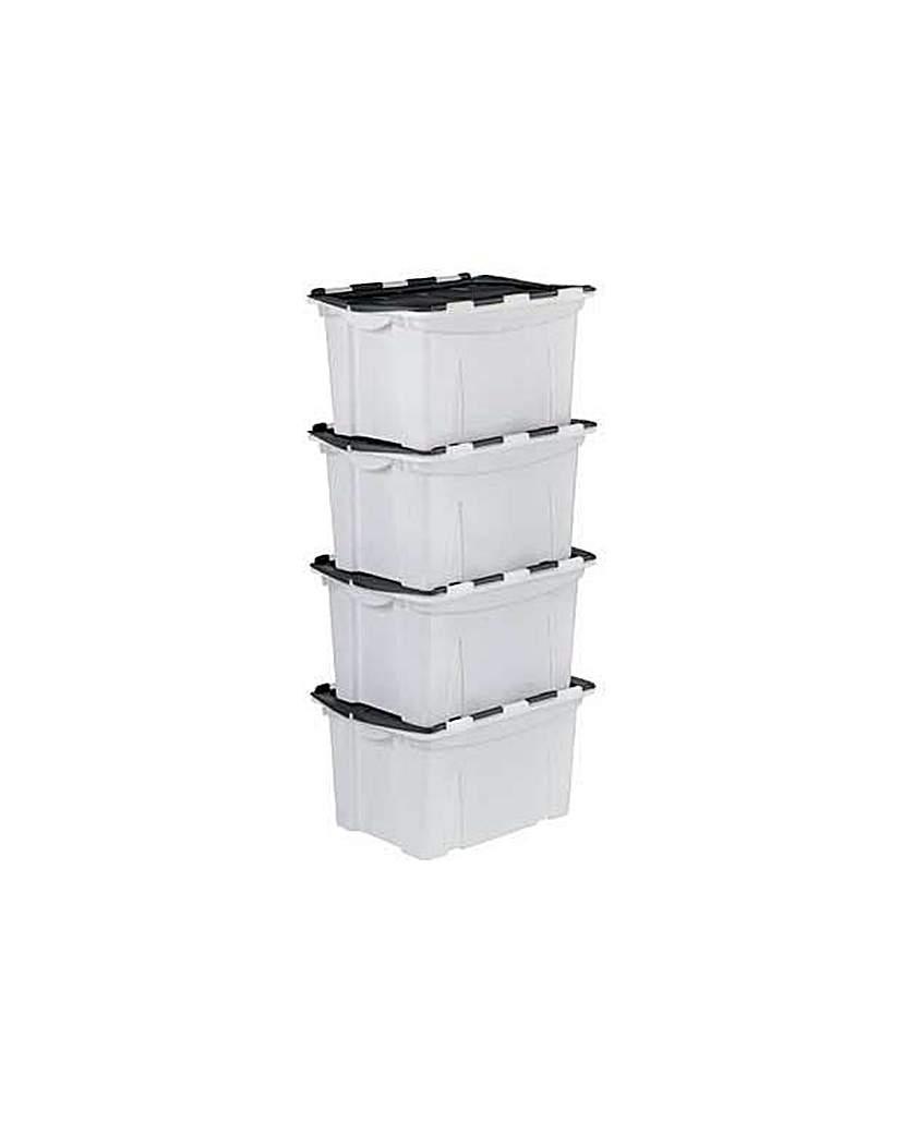 Image of 40 Ltr Black Crocodile Lid Storage Boxes