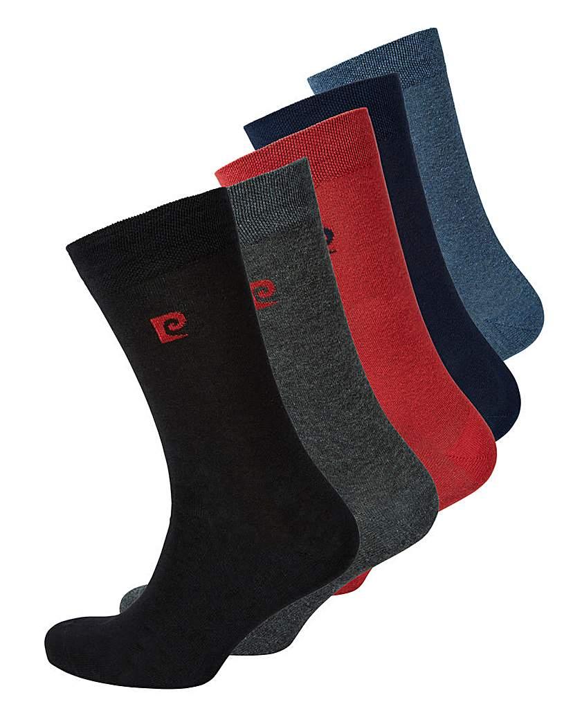 Pierre Cardin Pack of 5 Logo Socks