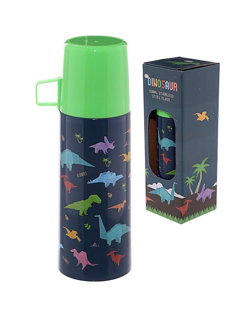 Image of Funky 350ml Flask - Dinosaur