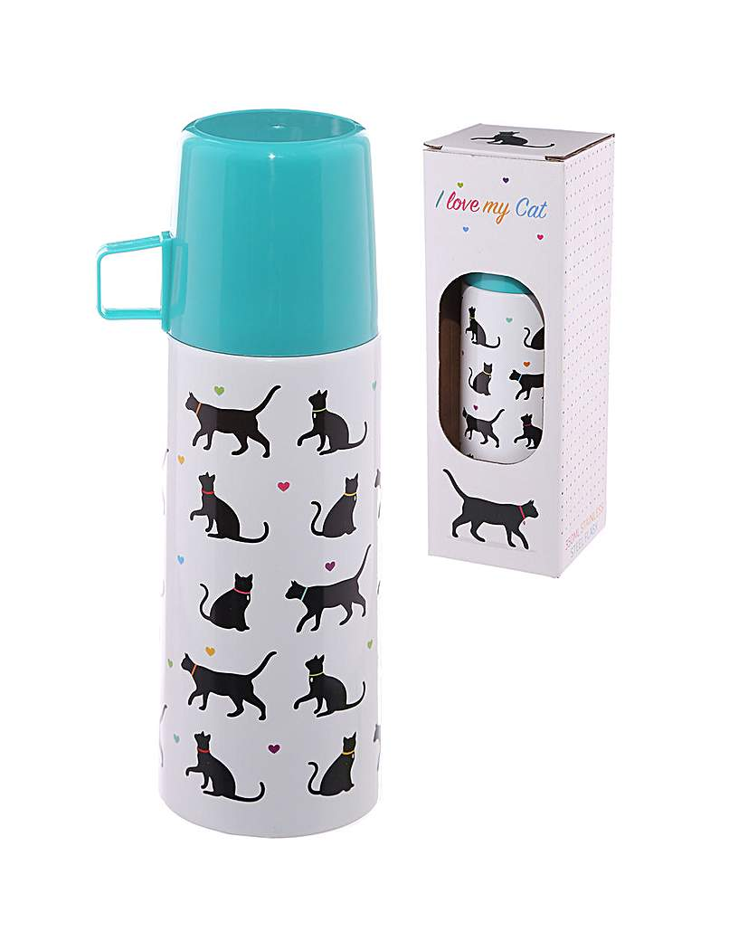 Image of Funky 350ml Flask - Cat
