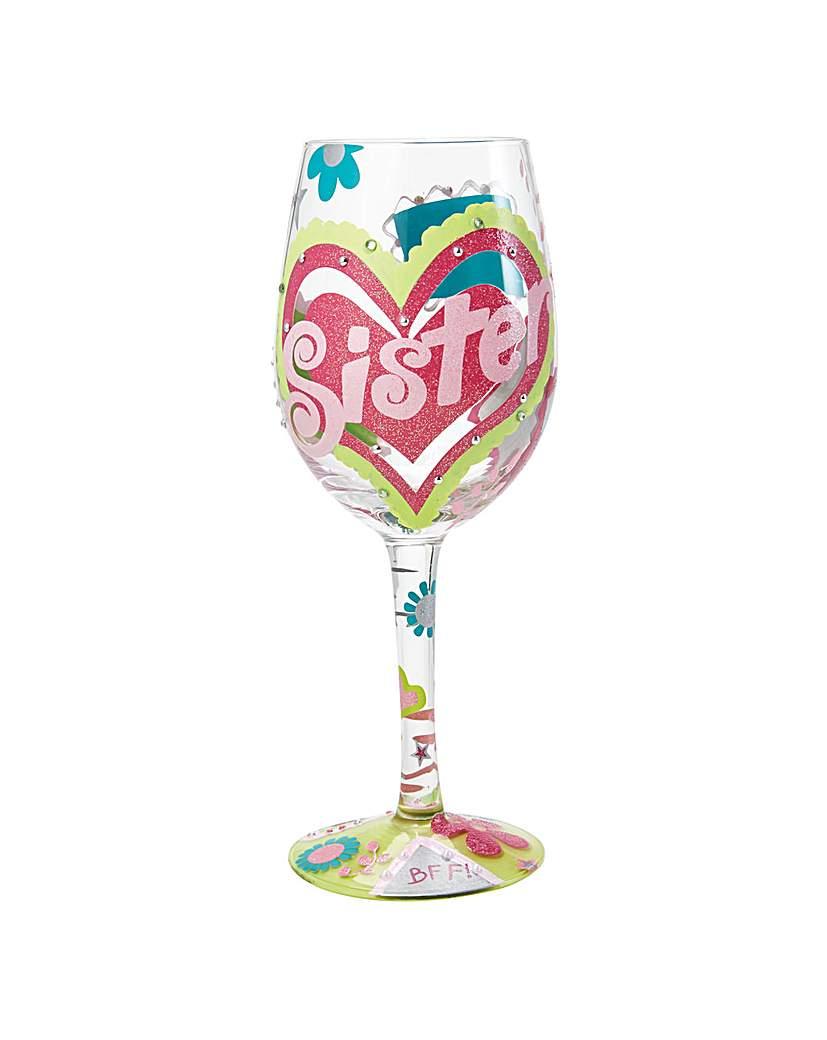 Lolita Sister My BFF Wine Glass.