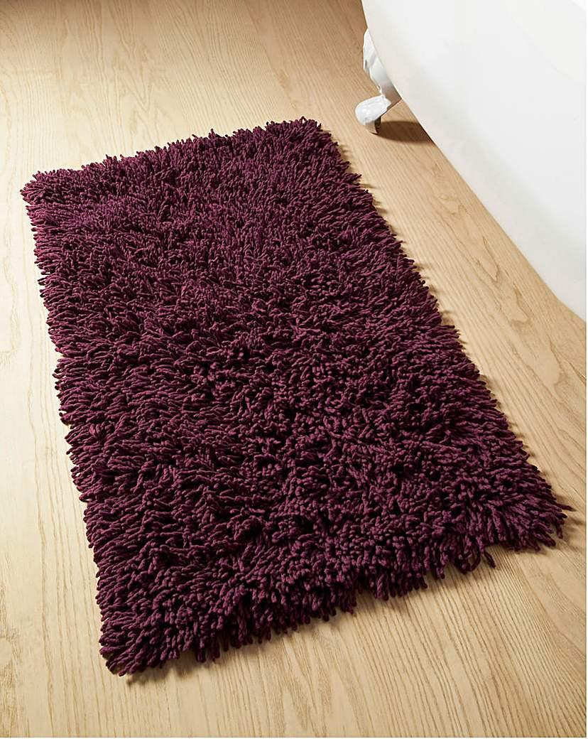 Image of Everyday Twist Cotton Bath Mat Aubergine