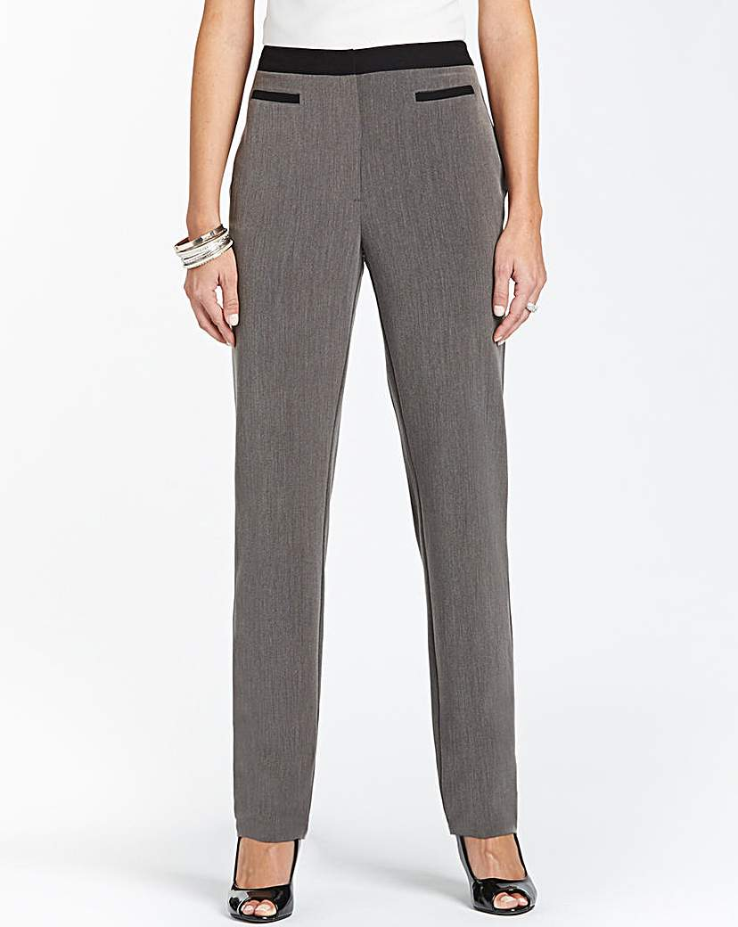 Tapered Contrast Trouser Length 27in