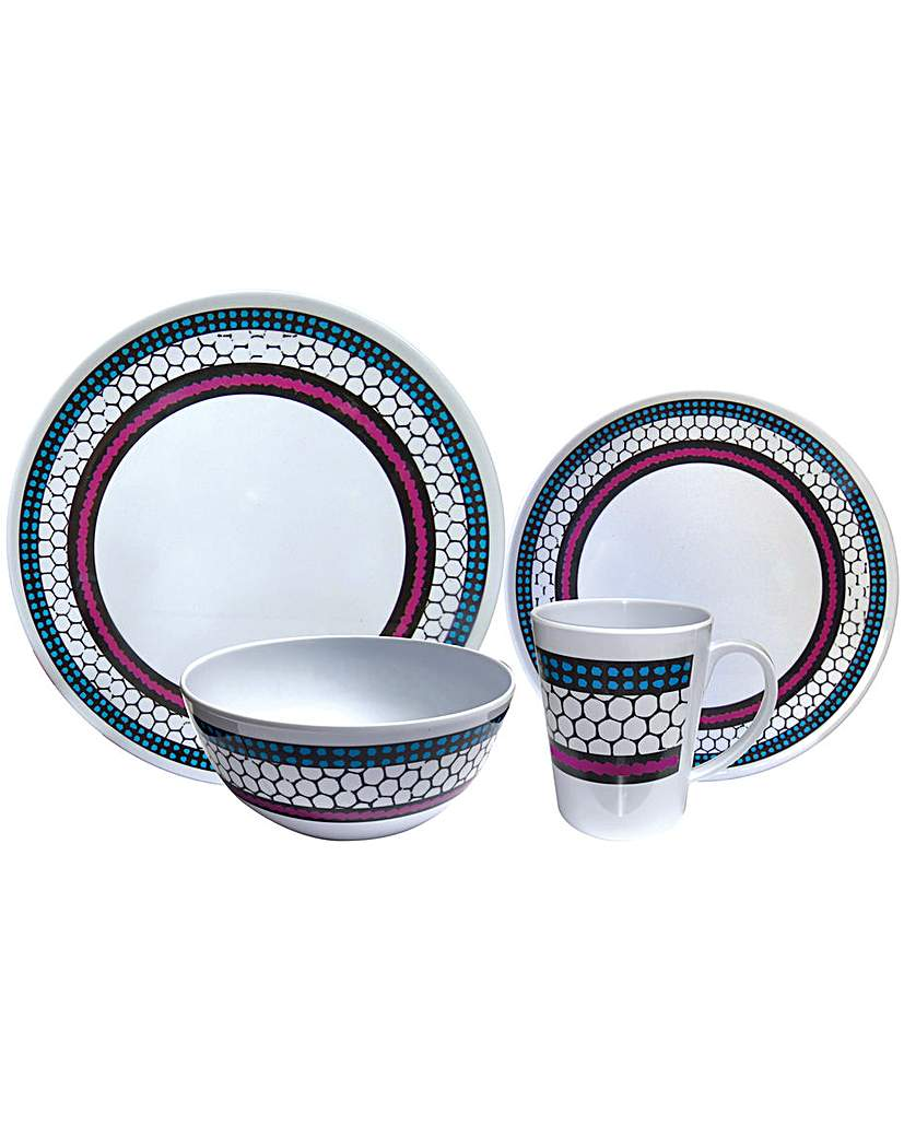 Image of Honeycomb 16Pc Melamine Set