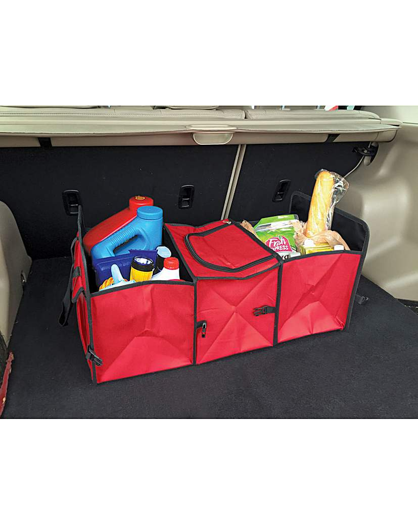 Image of 2 in 1 Collapsible Car Boot Organiser