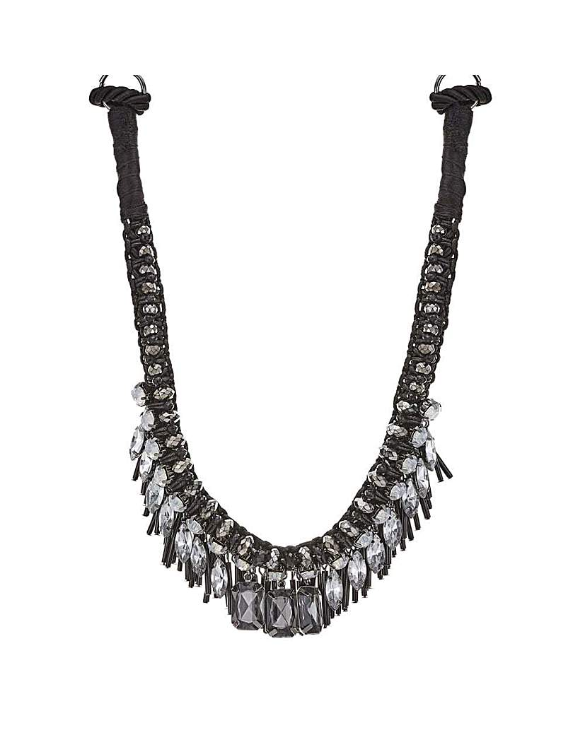 Mood beaded charm collar necklace