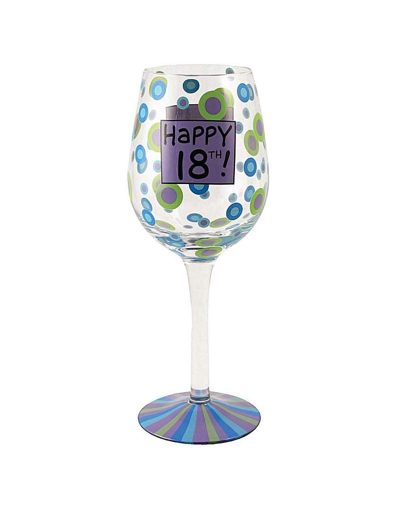 Image of 18th Birthday Wine Glass