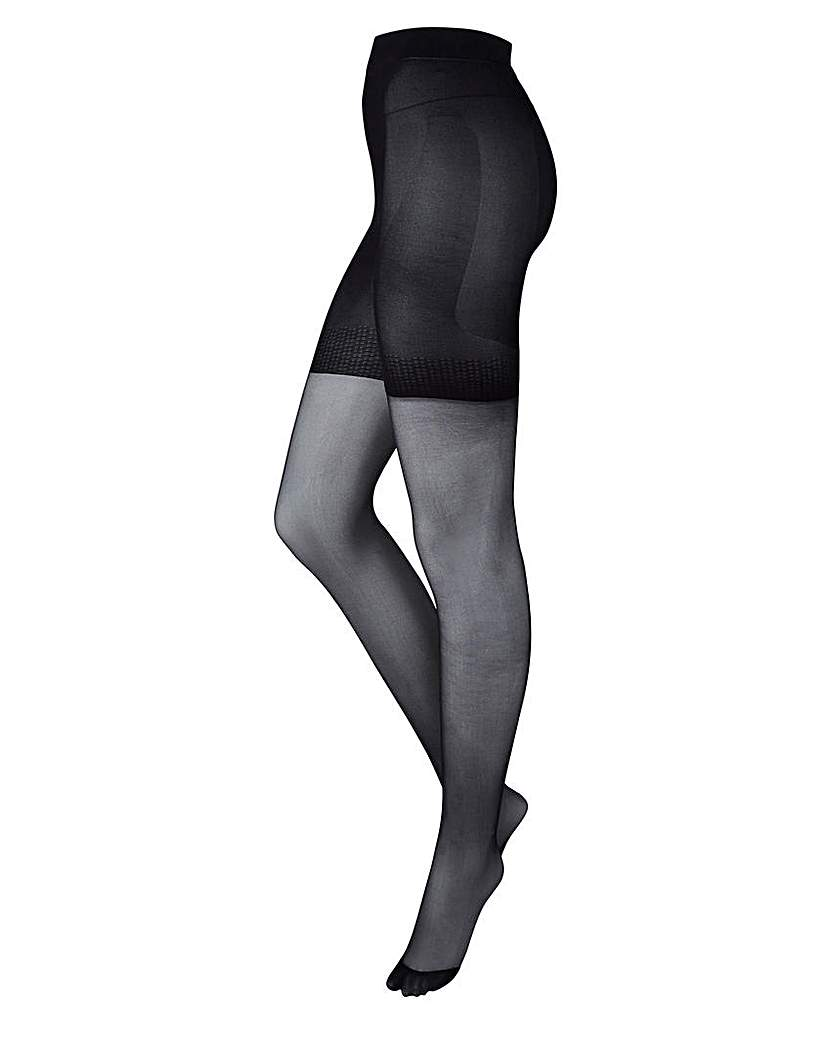2 Pack 20 Denier Firm Control BlkTights.