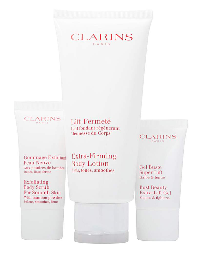 Image of Clarins Lotion, Scrub and Gel Set
