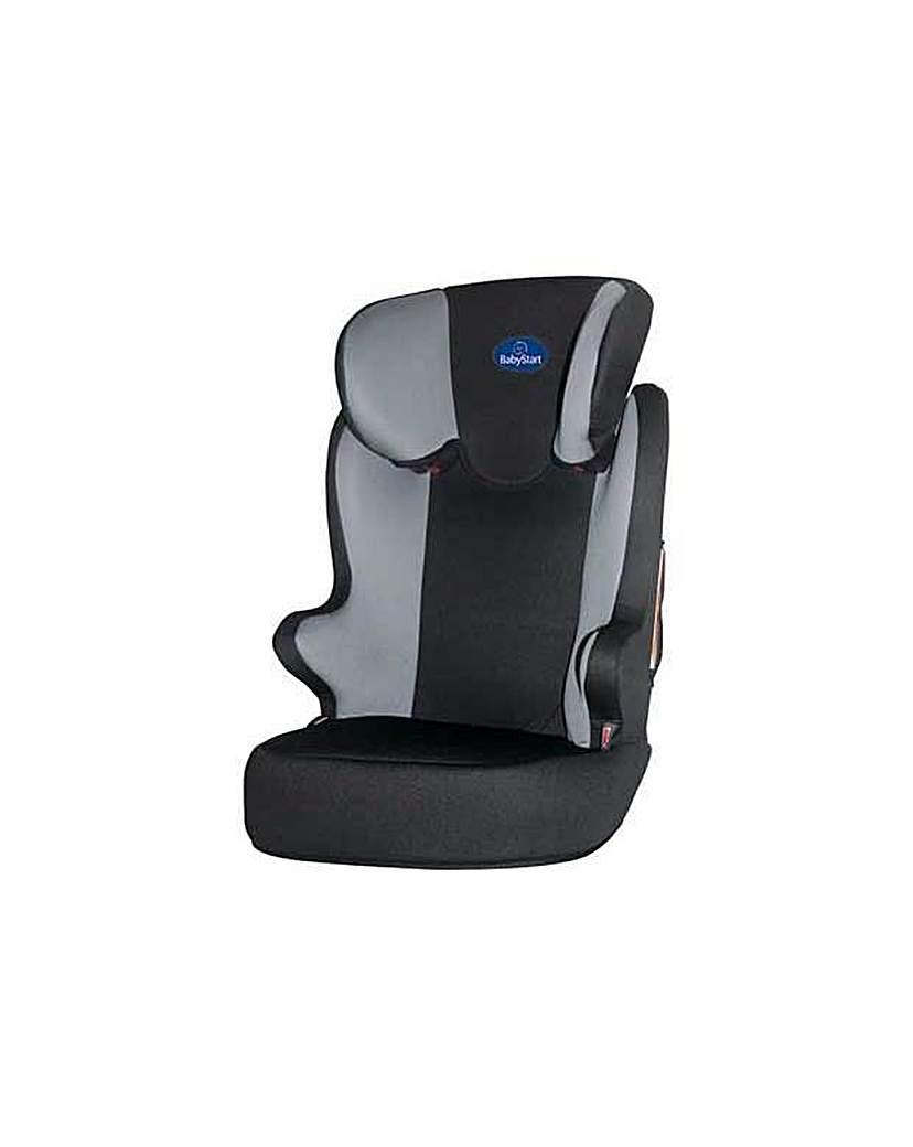 BabyStart Scoot Group 2-3 Black Car Seat