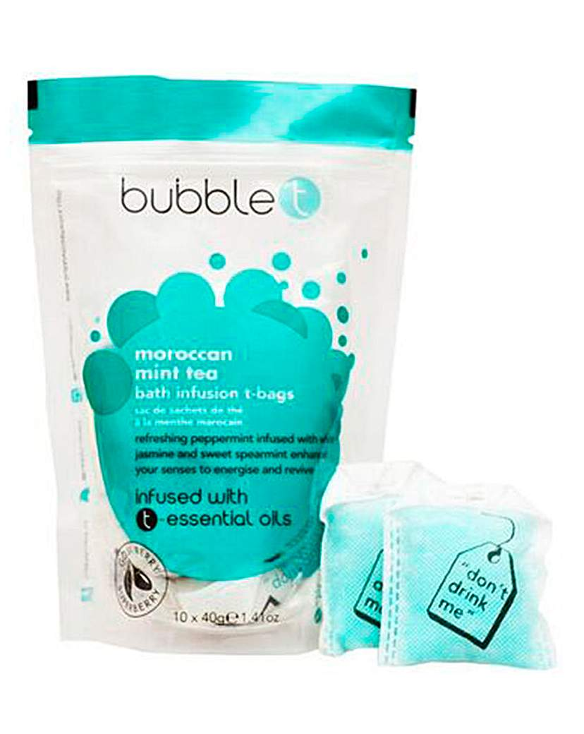 Image of BubbleT Moroccan Mint Tea Bag Bath Set