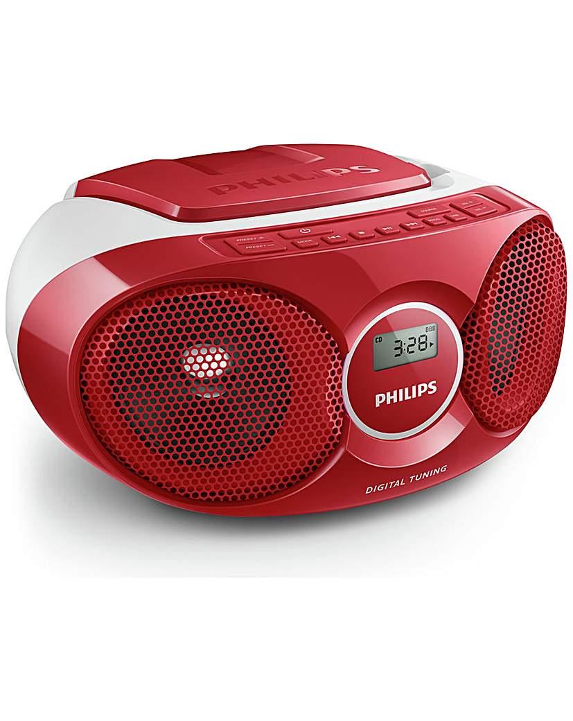 Philips AZ215R/05 Boombox - Red.