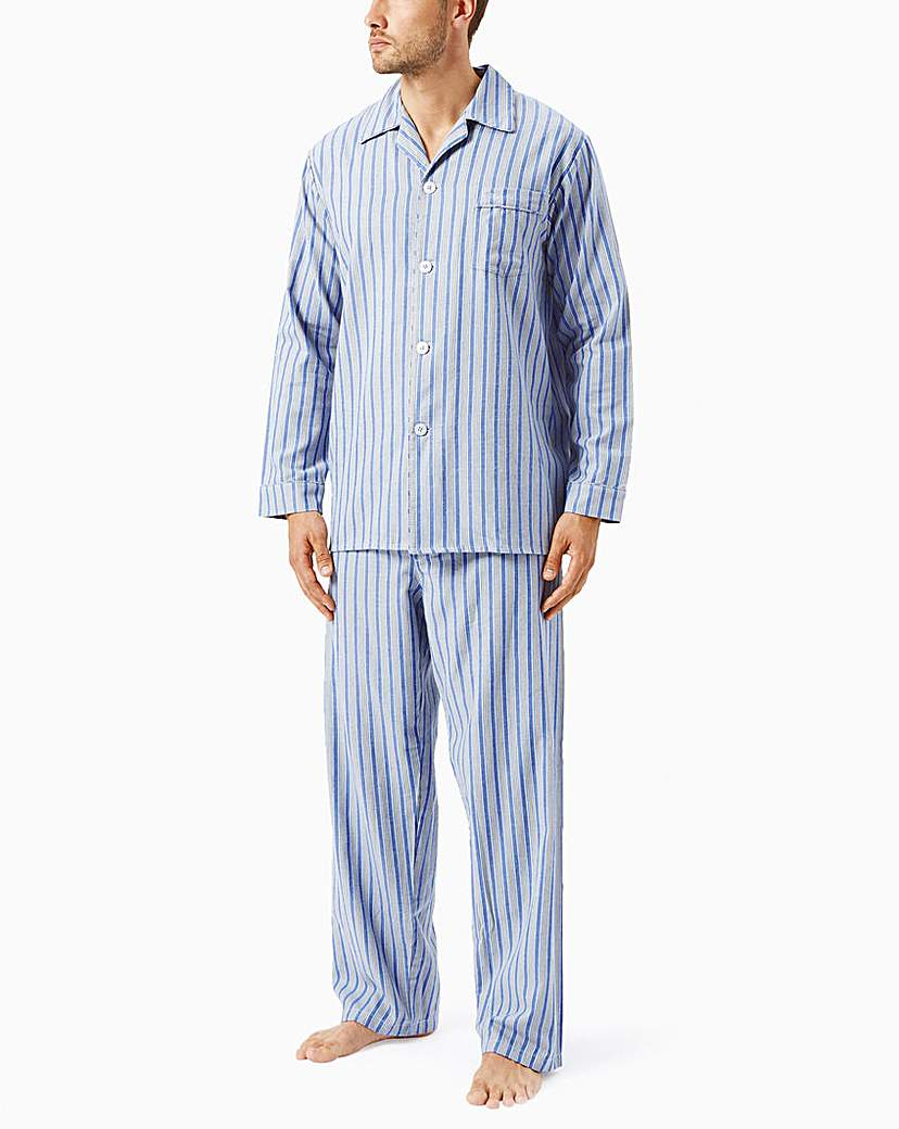 Wolsey Brushed Cotton Stripe Pyjamas