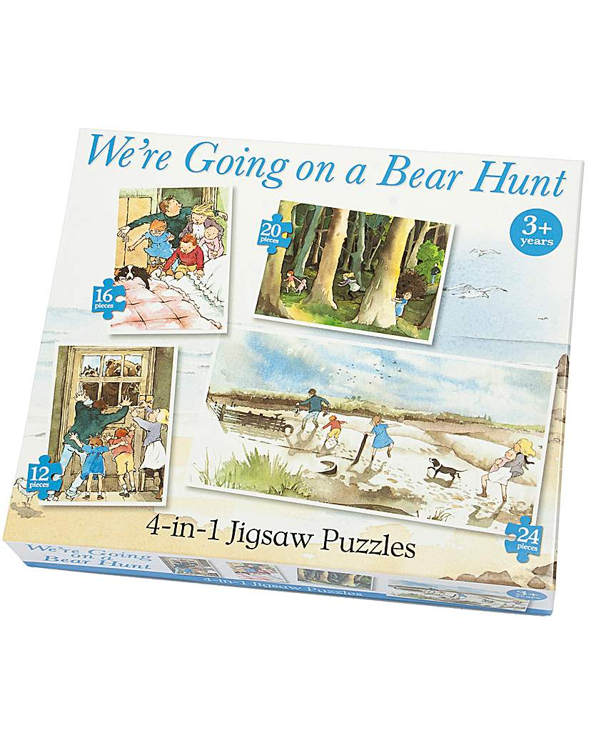 Bear Hunt 4 in 1 Jigsaw Puzzles