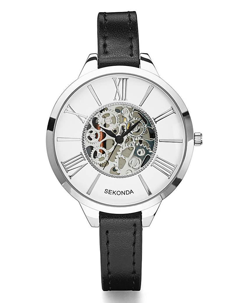 Sekonda Ladies Skeleton-Dial Slim Watch